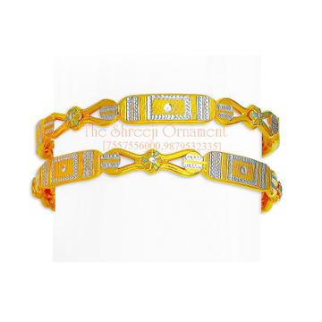 916 Gold Fancy Copper Kadali Bangle - 0019