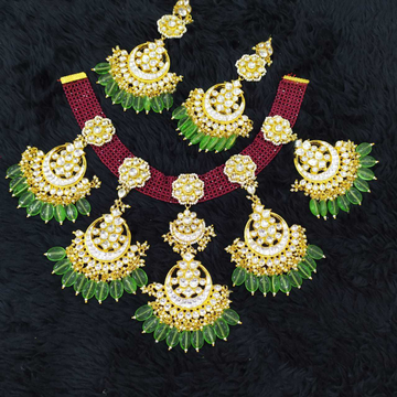 Beautiful Kundan And Chattai Set#1026