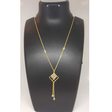 22 KT GOLD FANCY DESIGNER CHAIN PENDANT by
