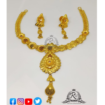 22 carat gold fancy ladies set RH-ST090