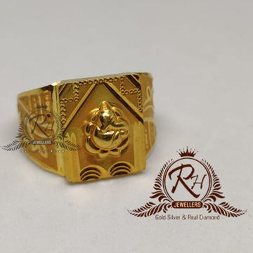 GOLD 22k/916 gents fancy ganesh ring RH-GR905