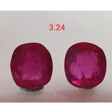 3.24ct Round Shape Pink Ruby-Manek VG-R24