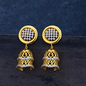 Ladies earrings traditional jummar 22K - LJE20