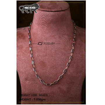18 carat Italian gents gold chain oval design igg0... by