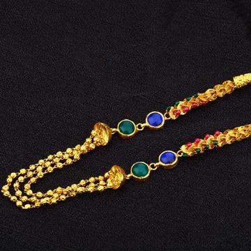 Ladies 22K Designer Antique Gold Mala-AC162
