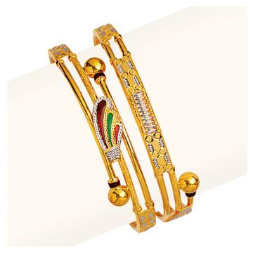 22KT Gold Cross Pipe Copper Kadli RJCP-060