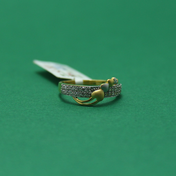 22KT Hallmarked Heart Shape Band For Ladies by Simandhar Jewellers