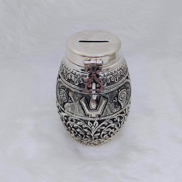 hallmarked silver piggy bank for kids in antique f...