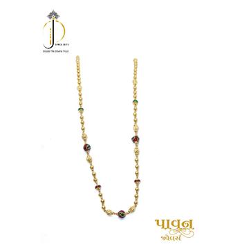 22kt / 916 gold designing bolls mala for women chg... by
