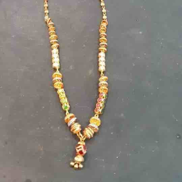 22ct gold 916 fancy mala with stones
