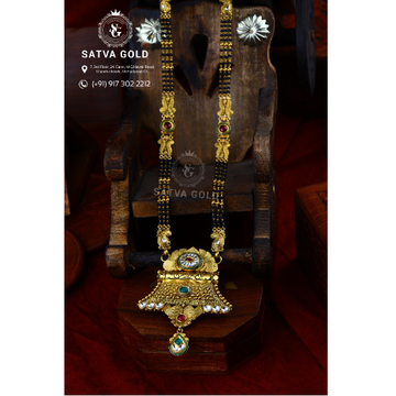 916 Gold Antique Mangalsutra AMG-015