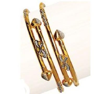 22K/916 Gold Stunning Cross Pipe Kadli
