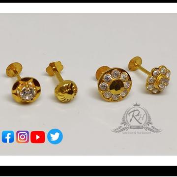 18 carat gold nose pins RH-NS203