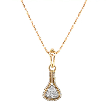 Jeune diamond pendant in rose gold 8shp62