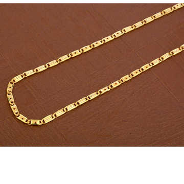 916 Gold fANCY Hallmark  Men's Nawabi  Chain  MNC42