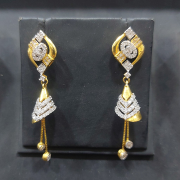 916 cz hanging earring by Parshwa Jewellers