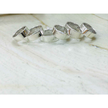 92.5 Sterling Silver Plain Rodiyam Designer Bands(Hand Finger Kayda/Ring) Ms-2652