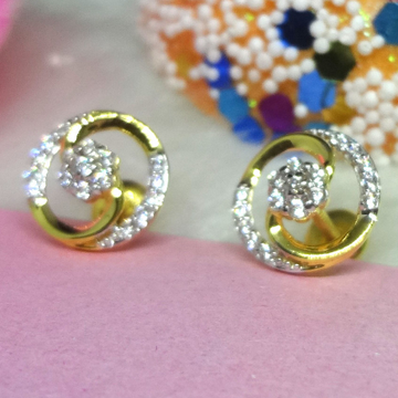 916 GOLD CZ DIAMOND EARRINGS