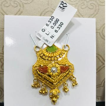 22 carat gold classical ladies mangalsutra RH-MN790