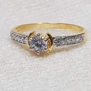 22 carat gold ladies single stone diamond ring RH-GR333