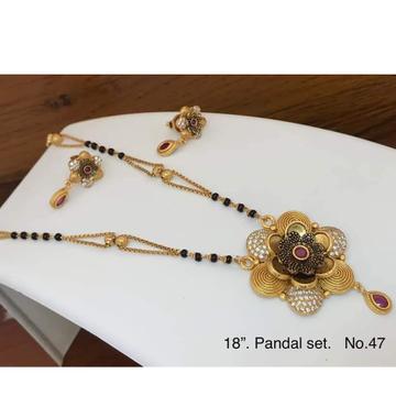 22 Carat gold  ladies flower pendal  mangalsutra RH-MS309