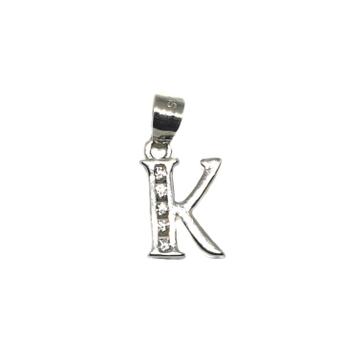 925 Sterling Silver Alphabet (Letter K) Pendant MGA - PDS0158