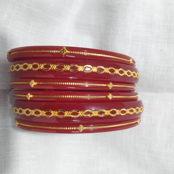 22KT Hallmark Gold Trendy Plastic Bangle  by