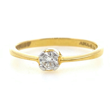 18kt / 750 yellow gold classic engagement solitaire diamond ladies ring 8lr11