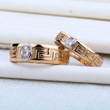 18K Engagement Rose Gold Couple RING-RCR10