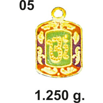 Aum Design Gold Pendant 05