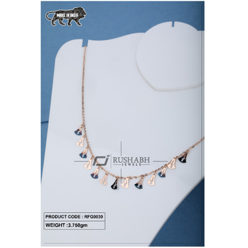 18 carat Ladies rose gold fancy chain triangle shape rfg0030