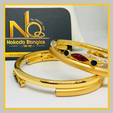 916 Gold Pipe Bangles NB - 529