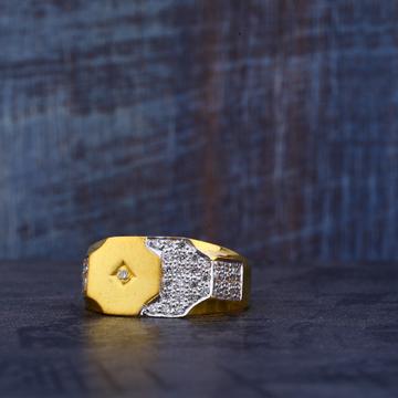 916 22kt Gold cz Ring MR467