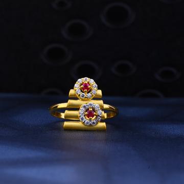 916 Gold Stylish Hallmark Ring LR32