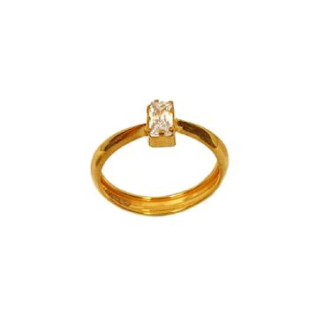 18K Gold Rectangle Shape Diamond Ring MGA - LRG1086