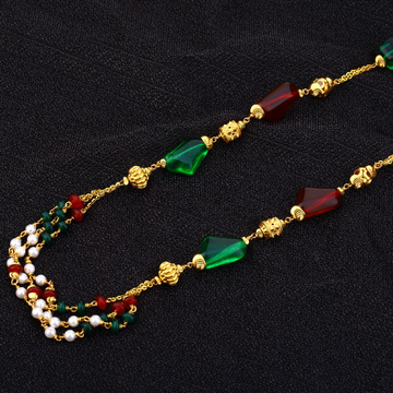916 Gold Moti Mala AC164