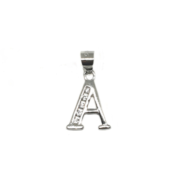 925 Sterling Silver Alphabet (Letter A) Pendant MGA - PDS0132