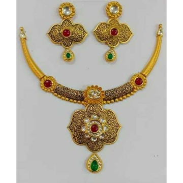 916 Fancy Gold Necklace Set by Vipul R Soni