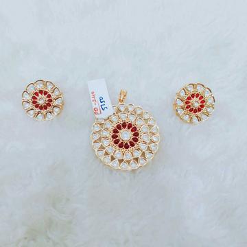 Beautiful bikaneri pink and white kundan pendant and tops 1070