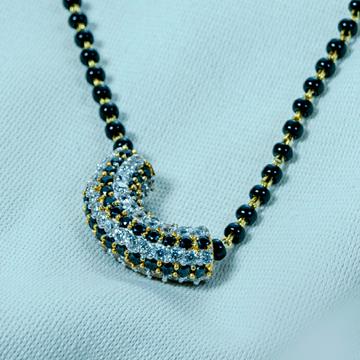 cz diamond mangalsutra by