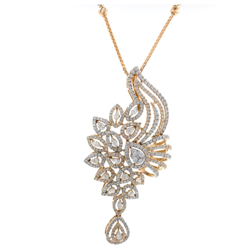 Suspendisse diamond pendant with drop in 18k rose...