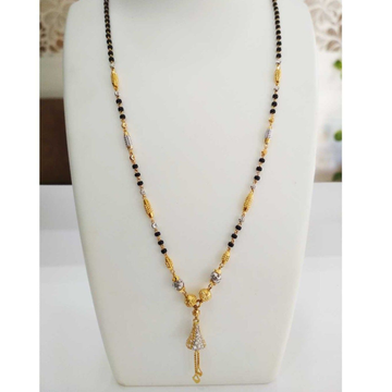 22 k gold fancy Mangalsutra. NJ-M0277