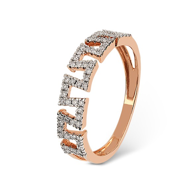 22kt gold and diamond machine cut zigzack design ring for women jkr005