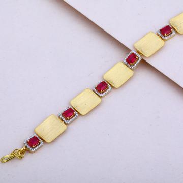 Ladies Italian Gold Bracelet-LIB34