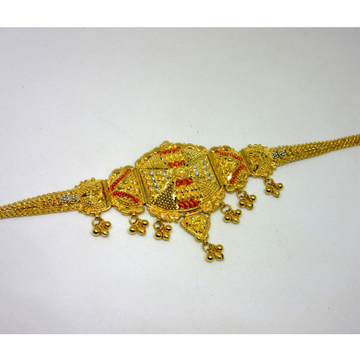 gold hallmark culcutti colorful bajubandh