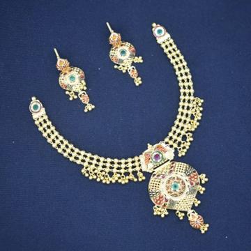 22Kt Gold Antique Necklace Set MK-N02 by