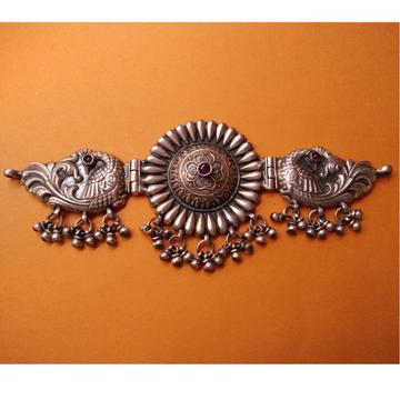 Puran tribal silver peacock motifs marigold choker...