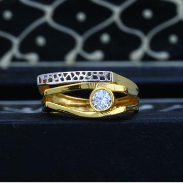 916 Gold Ladies Solitaire Diamond Ring JJLR-019