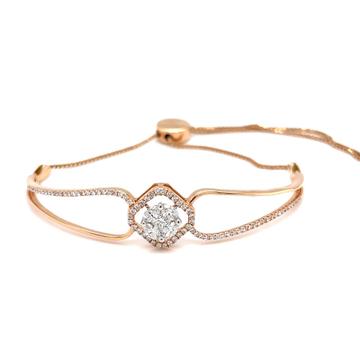 Frumoasa diamond bracelet with flexible adjustable...