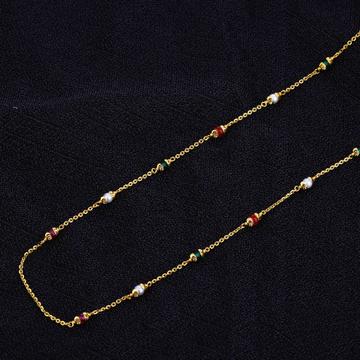 Ladies Colour Stone Delicate Fancy ChainMala-AC105